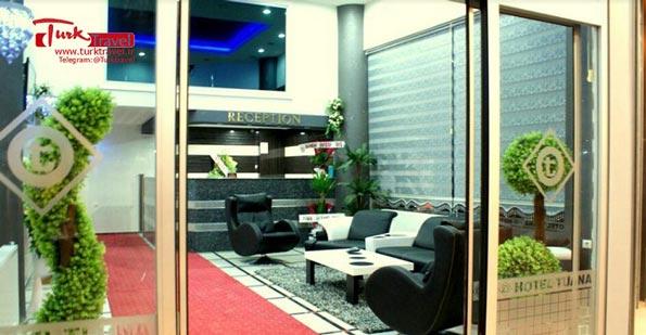 لابی هتل MAVI TUANA - سفرنامه نوروزی وان از خانم مهرنوش