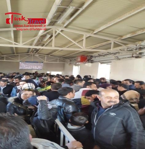 سالن مسافری مرز رازی - سفرنامه نوروزی وان از خانم مهرنوش