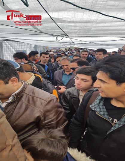 تردد مسافرین از مرز کاپی کوی - سفرنامه نوروزی وان از خانم مهرنوش