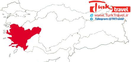 راهنمای تقسیمات کشوری ترکیه - ناحیه اژه