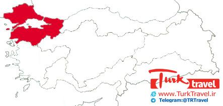 راهنمای تقسیمات کشوری ترکیه - مرمره