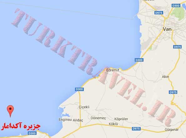 نقشه شهر وان ترکیه