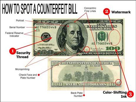 راههای تشخیص دلار اصل