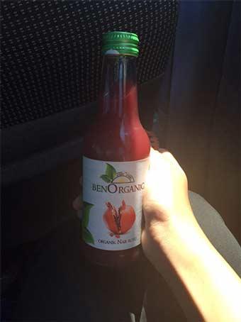 نوشیدنی ارگانیک تهیه شده از انار