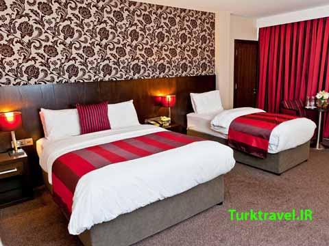 اتاق سه نفره با یک تخت دو نفره و یک تخت یک نفره