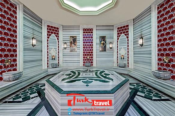 حمام ترکی هتل الیت ورلد وان