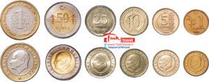 اسکناسها و سکه های رایج ترکیه