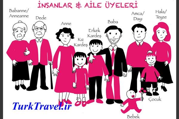 خانواده و فامیل در زبان ترکی